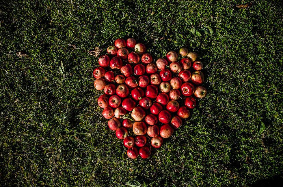 Äpple i hjärta
