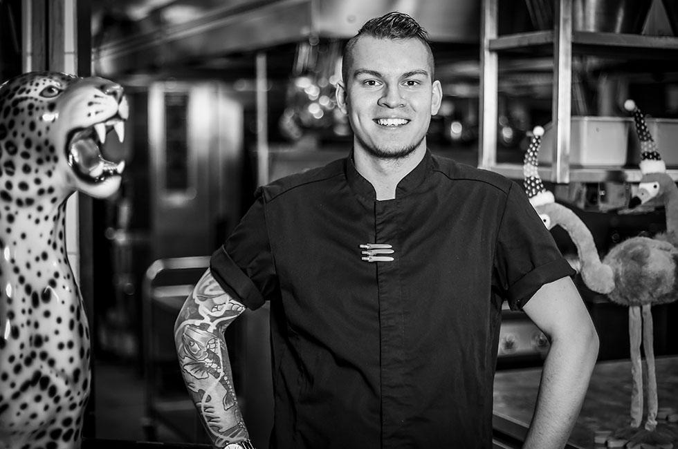 Alex Ahlin till tävlingen Årets Möteskock 2019
