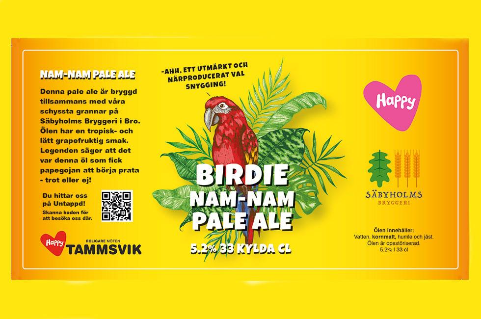 Birdie nam nam pale ale på Happy Tammsvik