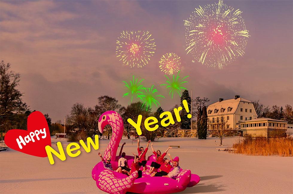 Gott och glatt nytt år på Happy Tammsviks herrgård
