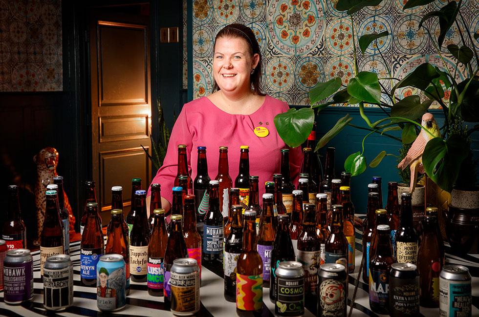 Helena - öl-sommeliere på Happy Tammsviks herrgård