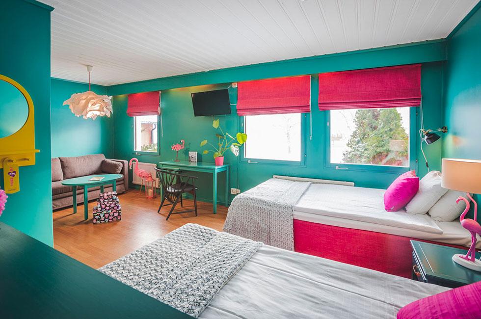 Hotellrum i lilla villan på Happy Tammsvik