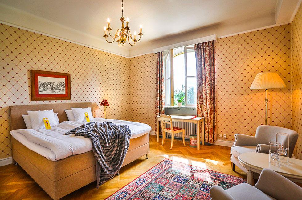 Hotellrum i herrgården på Happy Tammsvik