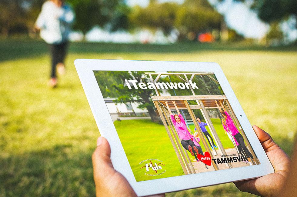 iTeamwork - aktivitet med iPad på konferensanläggningen Happy Tammsvik