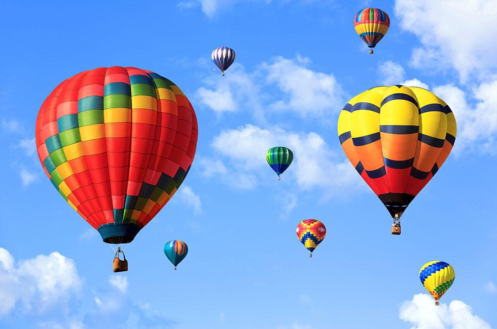 Luftballonger i himlen