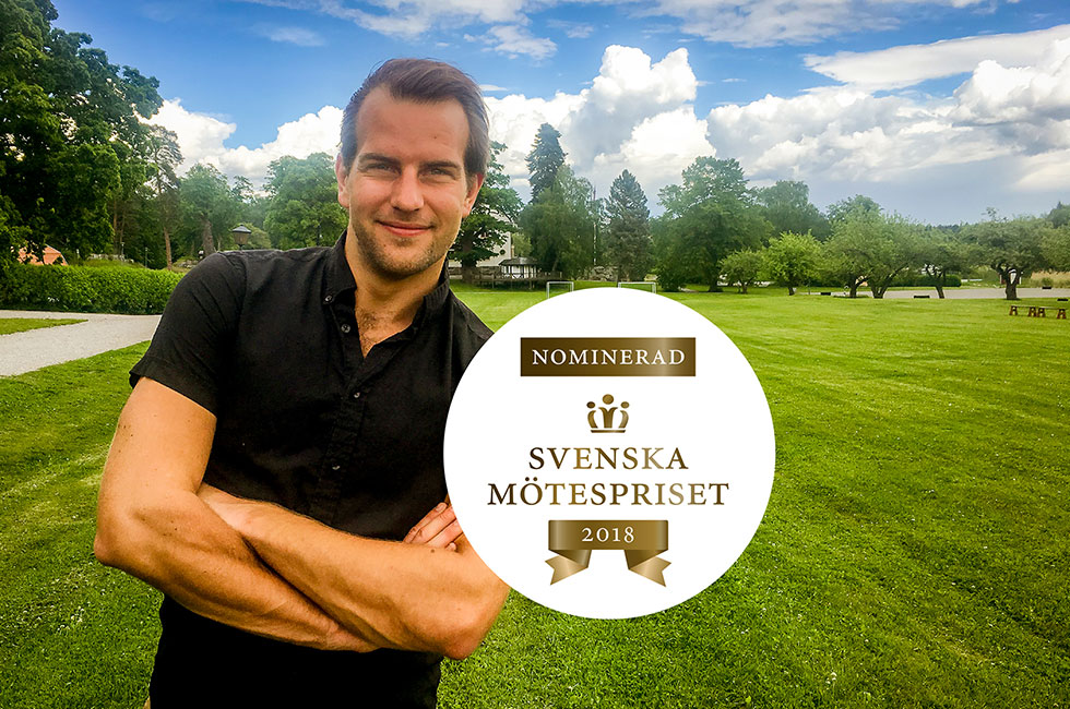 Richard på Happy Tammsvik nominerad till Årets Mötesbokare i Svenska Mötespriset 2018