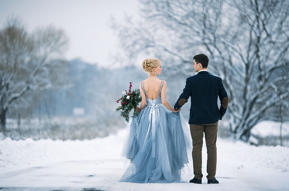 Vinterbröllop i stockholm vid Happy Tammsviks herrgård